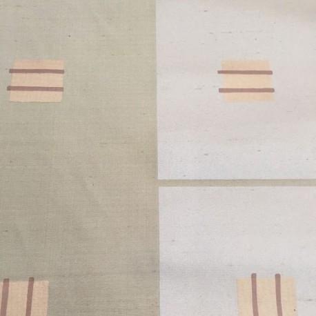 5 1/2 Yards Abstract Geometric  Satin Vinyl  Fabric