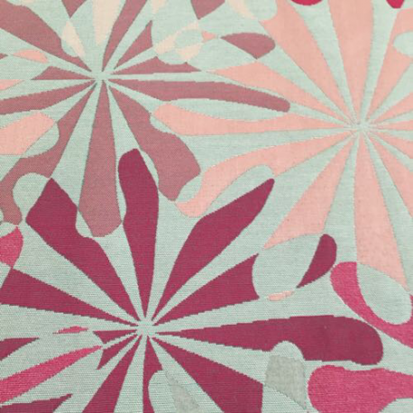 7 Yards Abstract Floral  Textured  Fabric