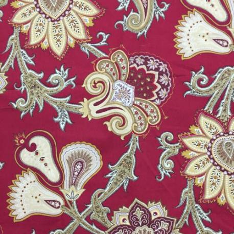 1 Yard Floral Paisley  Print  Fabric