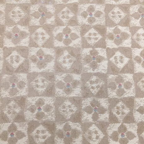 12 Yards Floral Plaid/Check  Vinyl  Fabric