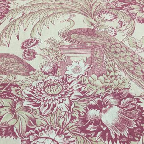 12 Yards Animal Floral  Print  Fabric