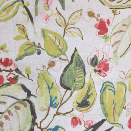 4 1/2 Yards Floral  Print Woven  Fabric