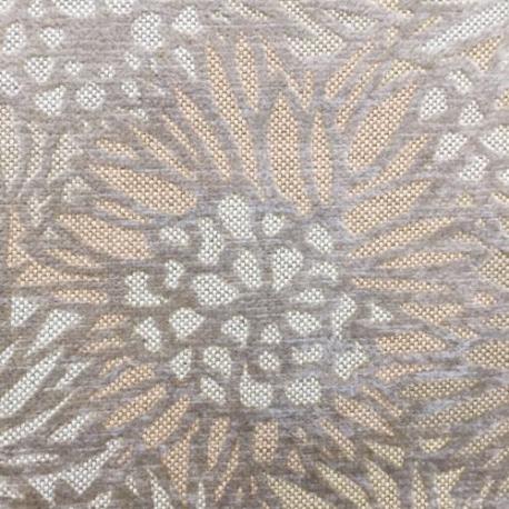 2 1/4 Yards Floral Nature  Velvet  Fabric