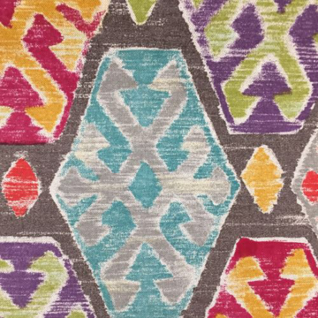 2 Yards Diamond Ikat  Print  Fabric