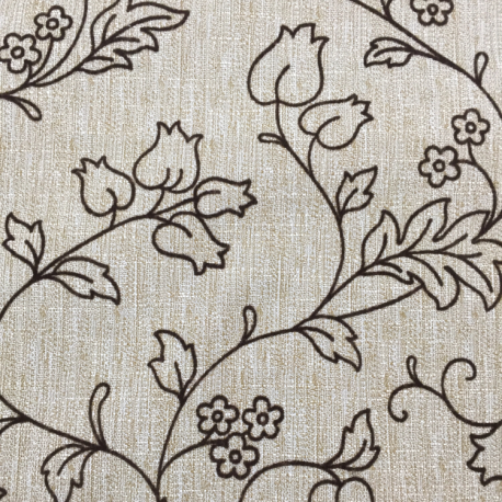 3 1/4 Yards Floral  Woven  Fabric
