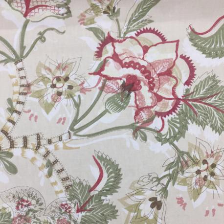 4 1/2 Yards Animal Floral  Print  Fabric