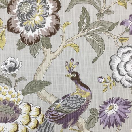 5 Yards Animal Floral  Print  Fabric