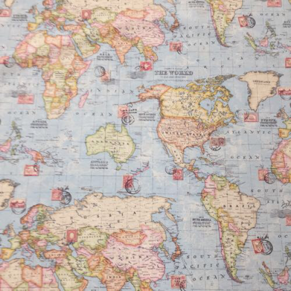 5 yards children nautical print fabric fabrics for Childrens patterned fabric