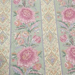 16 1/4 Yards Print  Floral Stripes  Fabric