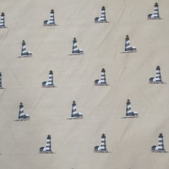 4 1/4 Yards Jacquard  Nautical  Fabric