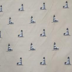 4 1/4 Yards Jacquard  Nautical  Fabric