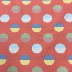 6 Yards Textured  Abstract Polka Dots  Fabric