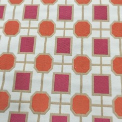 5 Yards Embroidered  Abstract Geometric  Fabric