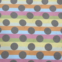 5 1/4 Yards Striped  Polka Dots Stripes  Fabric