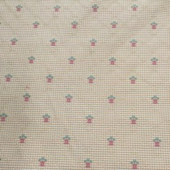 13 3/4 Yards Basket Weave  Diamond  Fabric
