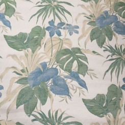 6 1/2 Yards Textured Woven  Floral  Fabric