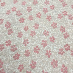 9 1/2 Yards Textured  Floral  Fabric