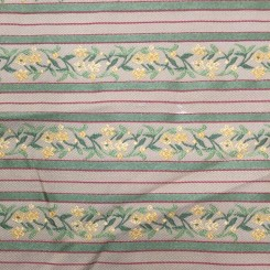 15 1/4 Yards Striped  Floral Stripes  Fabric