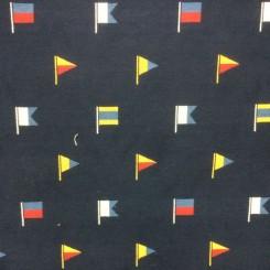 4 1/2 Yards Woven  Nautical  Fabric