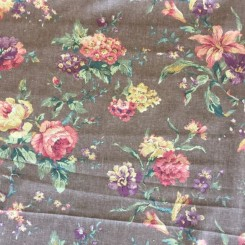 2 1/4 Yards Woven  Floral  Fabric