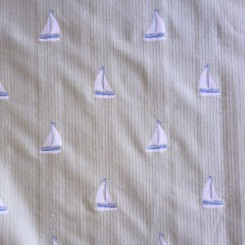 5 1/2 Yards Embroidered  Nautical  Fabric