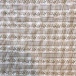 4 3/4 Yards Woven  Floral Stripes  Fabric