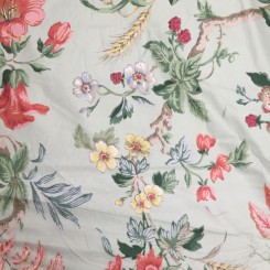 3 Yards Woven  Floral  Fabric