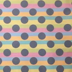 6 1/2 Yards Polka Dots Stripe  Woven  Fabric