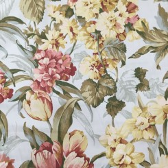 2 1/2 Yards Floral  Woven  Fabric