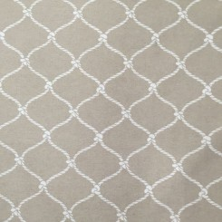4 1/2 Yards Diamond Nautical  Woven  Fabric