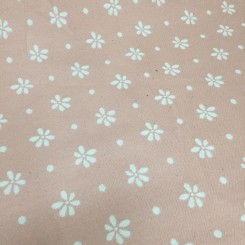 1 1/2 Yards Floral Polka Dots  Woven  Fabric