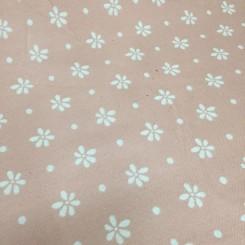 1 1/2 Yards Floral Polka Dots  Woven  Fabric