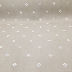 12 Yards Diamond Polka Dots  Woven  Fabric
