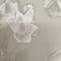 2 1/4 Yards Floral  Textured  Fabric