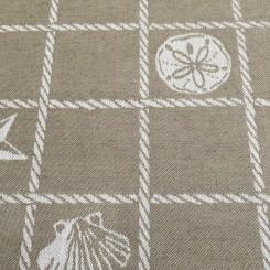 1 3/4 Yards Nautical Plaid/Check  Woven  Fabric