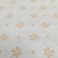 3 1/4 Yards Floral Polka Dots  Woven  Fabric