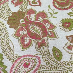 4 1/2 Yards Floral  Woven  Fabric