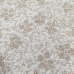 6 Yards Floral  Textured  Fabric