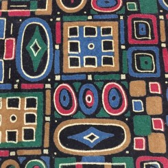22 1/2 Yards Abstract Geometric  Faux Suede  Fabric