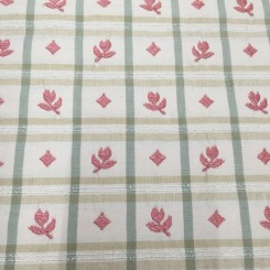 3 Yards Diamond Floral  Canvas/Twill Embroidered  Fabric