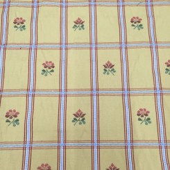 1 1/2 Yards Floral Plaid/Check  Woven  Fabric