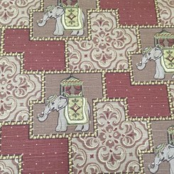 8 Yards Animal Geometric  Print  Fabric