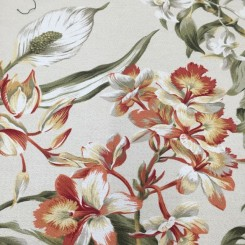 2 1/2 Yards Floral  Print  Fabric