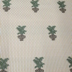 3 1/2 Yards Floral Stripe  Woven  Fabric