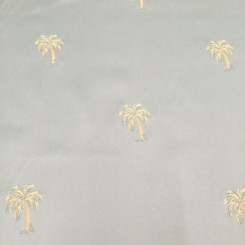 4 Yards Floral Nautical  Embroidered  Fabric