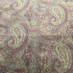 8 1/4 Yards Paisley  Chenille Ribbed  Fabric