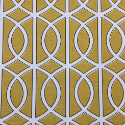 6 1/2 Yards Geometric  Print  Fabric