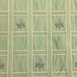 8 1/2 Yards Floral Plaid/Check  Embroidered Woven  Fabric