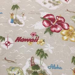 2 1/4 Yards Floral Nautical  Print  Fabric