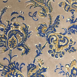 5 Yards Floral Paisley  Faux Suede Velvet  Fabric
